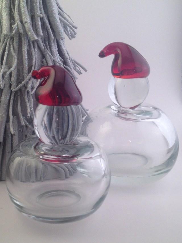 Santa? Glass Figurines