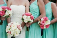 Coral, Mint & Navy Blue Real Wedding | Jen's Blossoms Blog