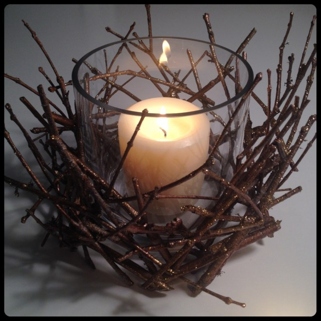 Shimmering Sticks Candle Holder