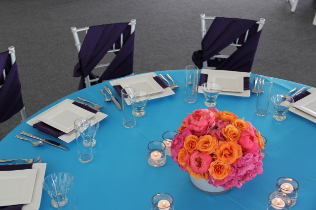 Turquoise & Purple Tabletop