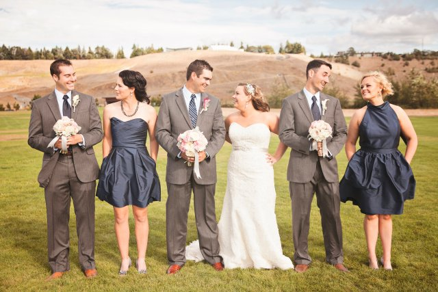 Chambers Bay Wedding Party || Flowers By: Jen's Blossoms || Photo By: Lloyd Photographers