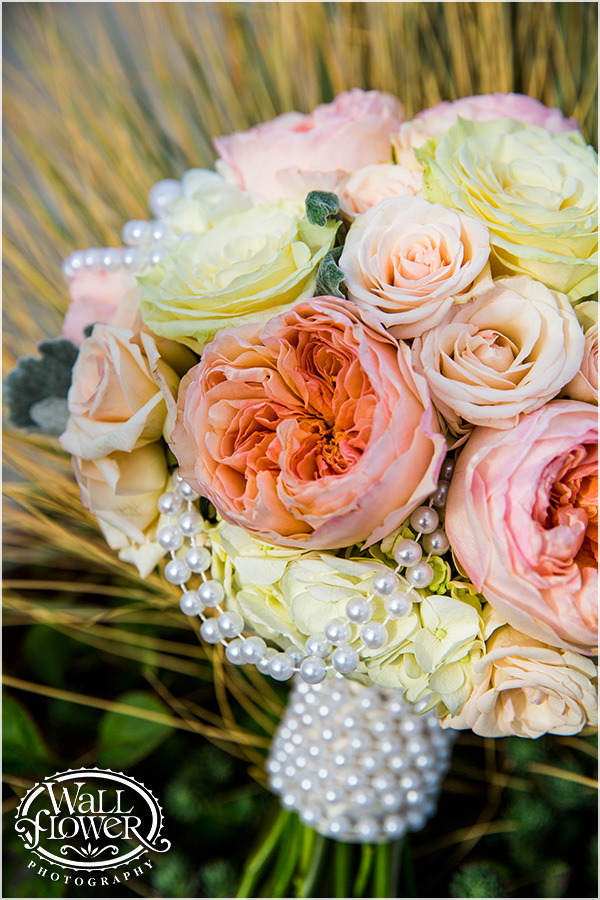 Rose & hydrangea bouquet, Chambers Bay Wedding || Flowers By: Jen's Blossoms || Photo By: WallflowerPhoto