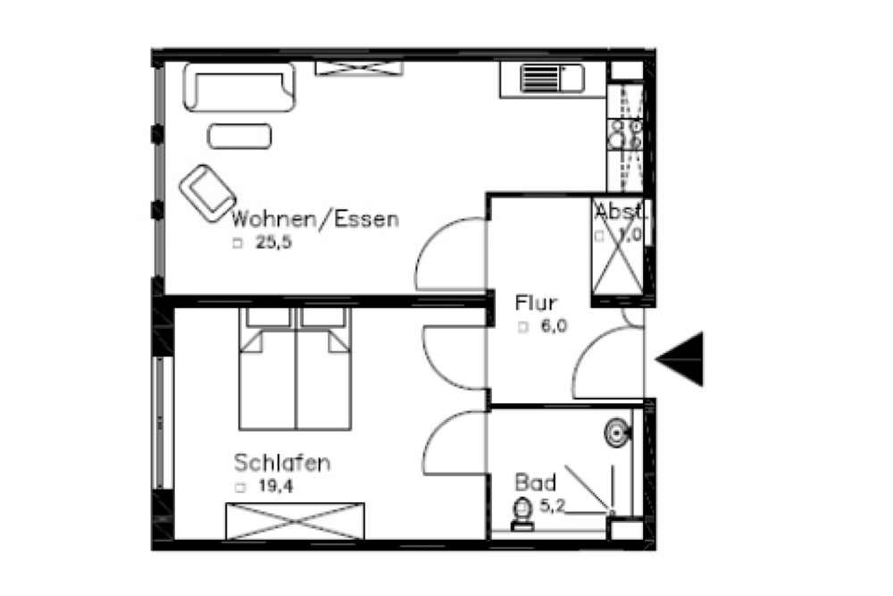 Röweland 6b - 2 Zimmer Wohnungen - ca. 57,1 qm - JENSEN Vermögensverwaltungsgesellschaft mbH