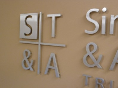 reception signs - 3D Aluminum