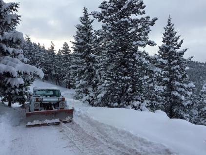 Jerome, the plow. Sanctuary resident, Alaska Hill staple, now serviced and piloted by my wonderful partner.