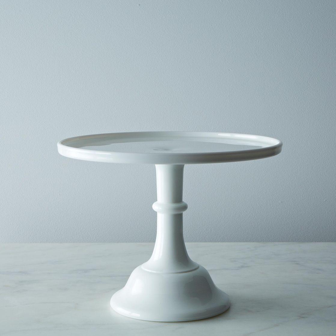 Milk Glass Cake Stand 12