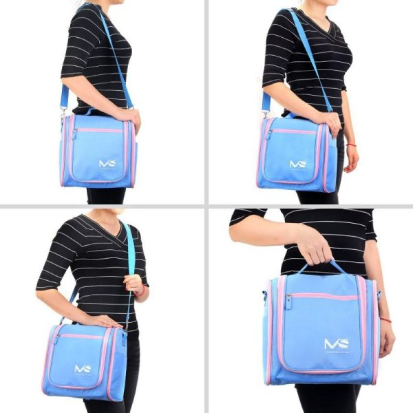 Different ways to carry the MelodySusie Toiletry Bag
