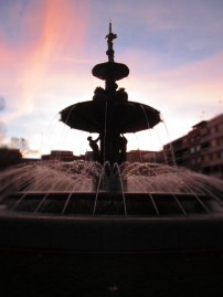 Exploring the city, finding amazing fountains in EVERY plaza