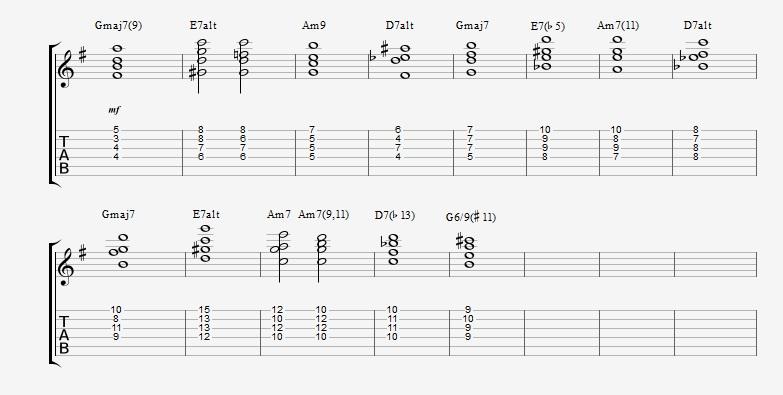Jazz Chord Essentials – Drop 2 voicings – Part 1 | Jens Larsen
