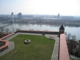 View of the Danube River from the Bratislava Castle