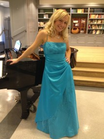 In the dress I wore for my final aria