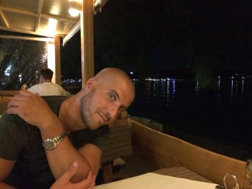 My wonderful view during dinner at Dinner's Delight, Makarska