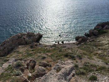 Nude beach above Brela - quite the hike to get to!