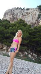 After the rain on the nude beach in Makarska
