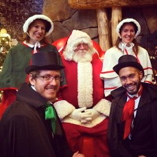 Singing with Santa at the Great Wolf Lodge in Fitchburg, MA