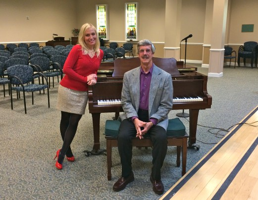 After our concert at Frederick Living - Frederick, PA. Jennifer Graf accompanied by Terry Musselman on piano.