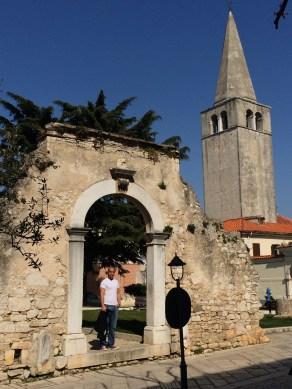 Milos and ancient ruins