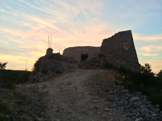Old fortress atop the town