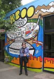 Jen at KBOO Portland