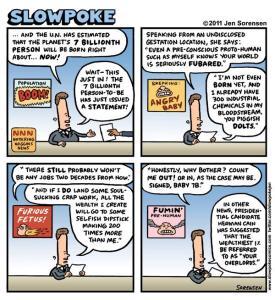 "This Week's Cartoon: ""The Seven Billionth Human"""