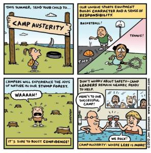 "This Week's Cartoon: ""Camp Austerity"""