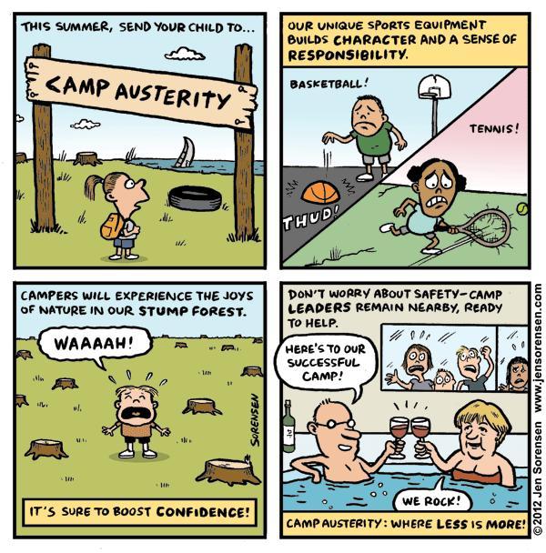 "This Week's Cartoon: ""Camp Austerity"""