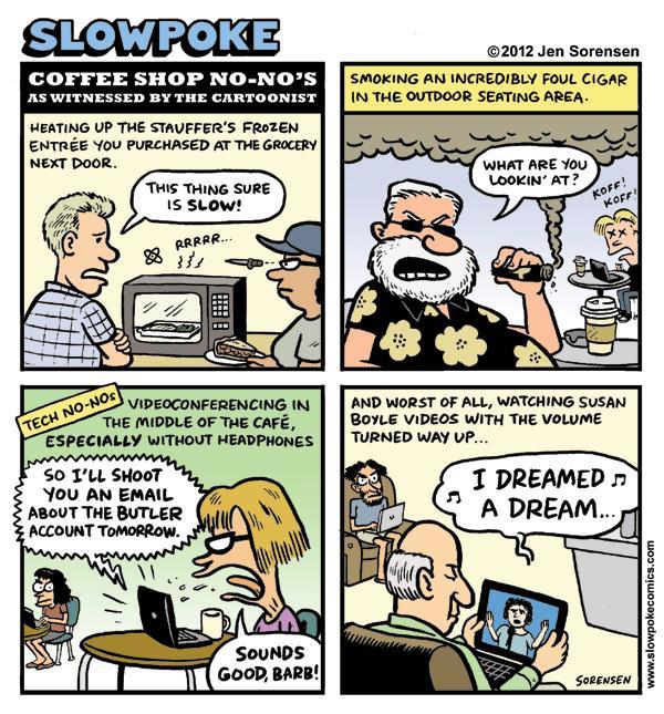 "This Week's Cartoon: ""Coffee Shop No-No's"""