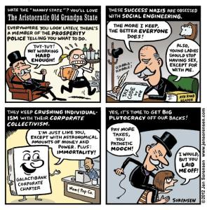 "This Week's Cartoon: ""The Aristocratic Old Grandpa State"""