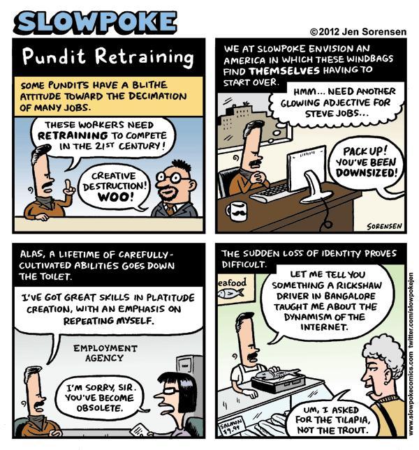 "This Week's Cartoon: ""Pundit Retraining"""