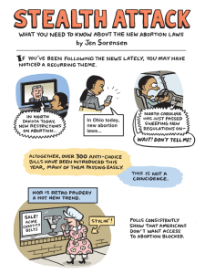 comic about new abortion TRAP laws