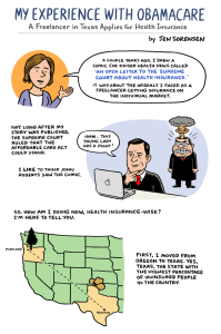 Page one of Affordable Care Act comic for Kaiser Health News