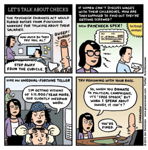 Paycheck Fairness Act cartoon