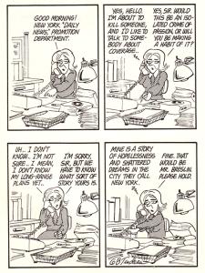 Doonesbury Son of Sam cartoon by Garry Trudeau