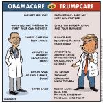 Cartoon: A handy comparison of Obamacare vs. Trumpcare