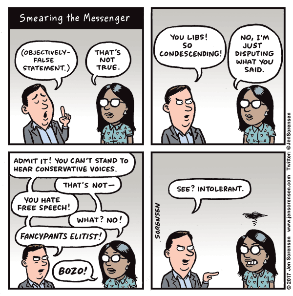 Smearing the messenger