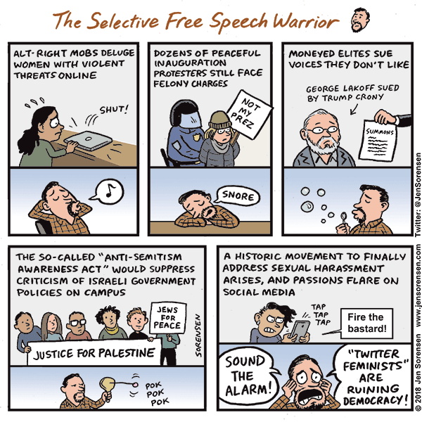 The Selective Free Speech Warrior