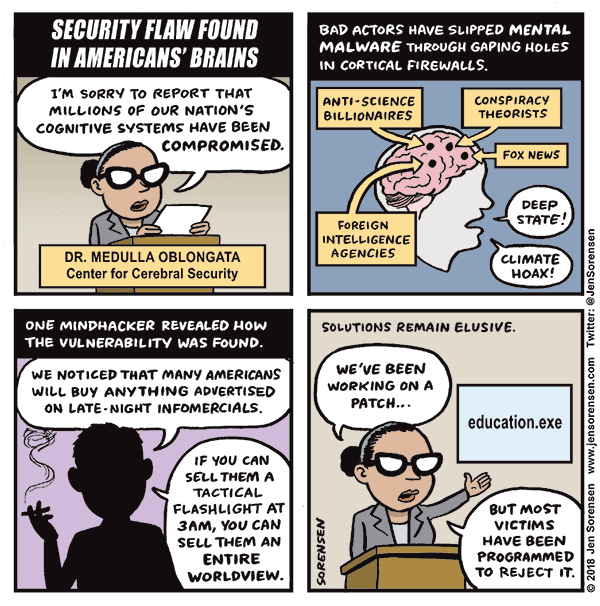 Security Flaw Found in Americans' Brains