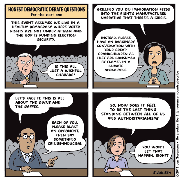 Honest Democratic debate questions