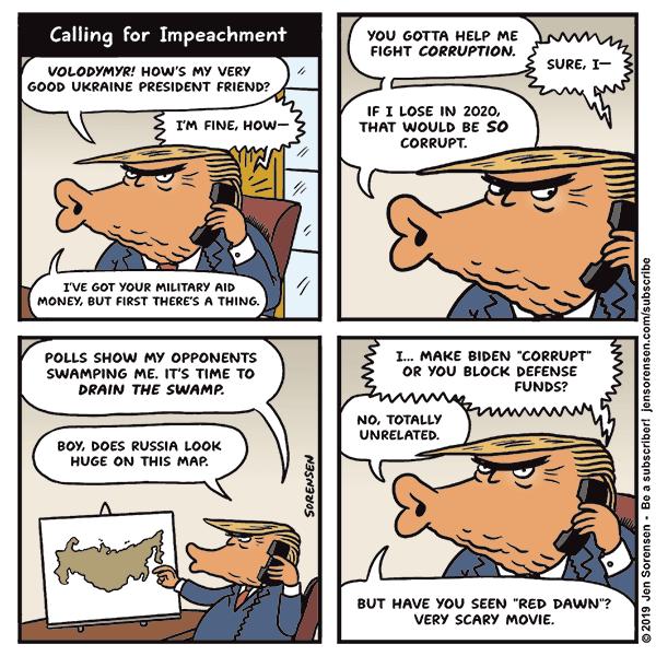 Cartoon: Calling for Impeachment