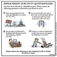 Impeachment Jury Duty Questionnaire