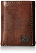 "Roll over image to zoom in     Levi's Men's Trifold Wallet - Sleek and Slim Includes ID Window and Credit Card Holder  4.4 out of 5 stars 1,494 customer reviews | 56 answered questions   Amazon's  Choice  for ""trifold leather wallets for men"""
