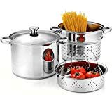 Cook N Home 02401 Stainless Steel 4-Piece 8 Quart Pasta Cooker Steamer Multipots,  by Cook N Home