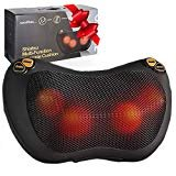 Zuzuro Shiatsu Pillow Massager with Heat – Electric Pillow Back & Neck Massager for Stress Relief & Ultimate Relaxation; Lower Back & Shoulder Massage Great gifts for men and women  byZuzuro