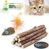 WoLover Cat Catnip Sticks Natural Matatabi Silvervine Sticks - Cleaning Teeth Molar Tools Kitten Cat Chew Toy Natural Catnip Mouse Cat Toy  by WoLover