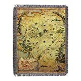 "Warner Brothers The Hobbit, Middle Earth Woven Tapestry Throw Blanket, 48"" x 60"", Multi Color  by Warner Bros."