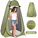 Pop Up Privacy Tent – Instant Portable Outdoor Shower Tent, Camp Toilet, Changing Room, Rain Shelter with Window – for Camping and Beach – Easy Set Up, Foldable with Carry Bag – Lightweight and Sturdy  by Abco Tech