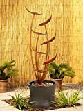 "John Timberland Tiered Copper Leaves Rustic Modern Outdoor Floor Water Fountain 41"" High Cascading for Yard Garden Patio Deck Home  by John Timberland"