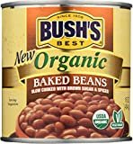 BUSH'S BEST Canned Organic Baked Beans, Source of Plant Based Protein and Fiber, Low Fat, Gluten Free, 16 oz  by Bush's Best