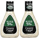 Ken's Steak House Creamy Caesar Dressing 16 0z. 2 Pack  by Ken's Steak House