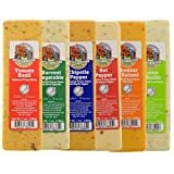 Wisconsin Cheese Blocks - 6 Pack Assorted (New Flavors)  byPerl Creek